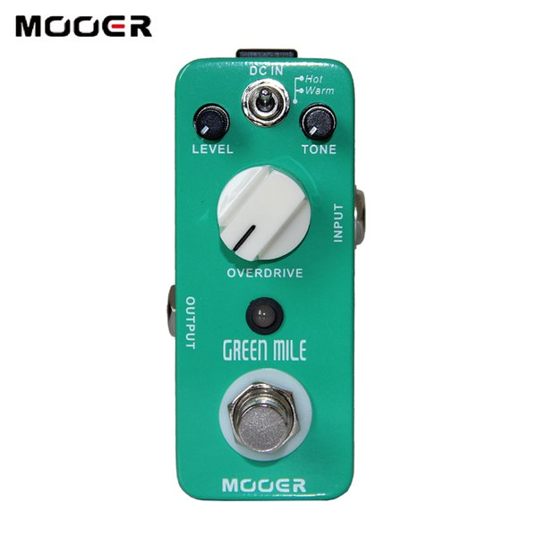 Mooer Green Mile Overdrive Pedal 2 Working Modes:Warm/Hot Guitar effect pedal