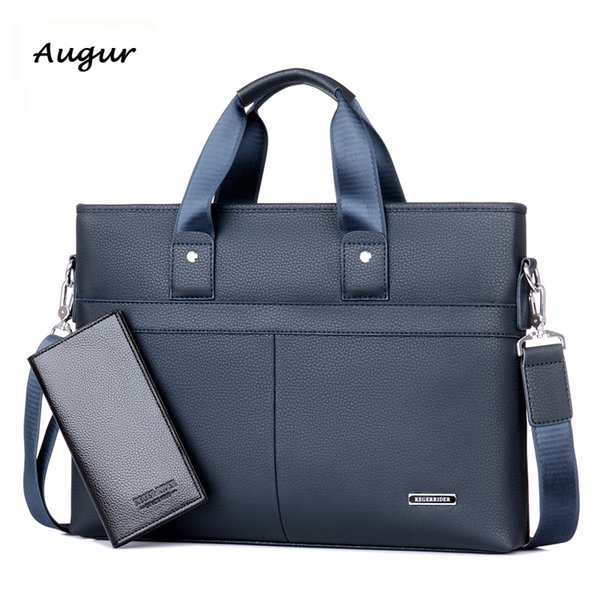 Wholesale- Men's Leather Handbags Vintage Leather Briefcase Laptop Shoulder Bags Causal Leather Portfolio Bags Messenger Bag K8273-4
