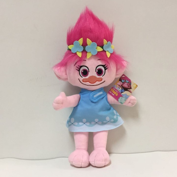 23CM Trolls Plush Toy Poppy Branch Dream Works Stuffed Cartoon Dolls The Good Luck Christmas Gifts Magic Fairy Hair Wizard