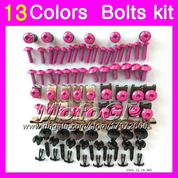 Fairing bolts full screw kit For HONDA CBR400RR NC29 CBR400 RR CBR 400 RR 90 91 92 93 94 1990 91 1994 Body Nuts screws nut bolt kit 13Colors
