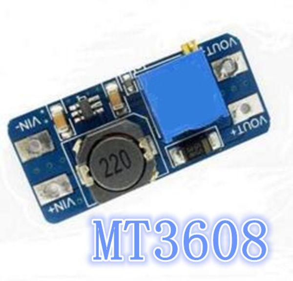 MT3608 2A Máx DC-DC Módulo de potencia elevador de módulo de potencia regulable ajustable 2V - 24V a 5V 9V 12V 28V