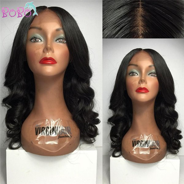 150% Density Brazilian Virgin Human Hair Deep Wave Full Lace Hair Wigs for Black Women Glueless Half Front Lace Wigs with Bang