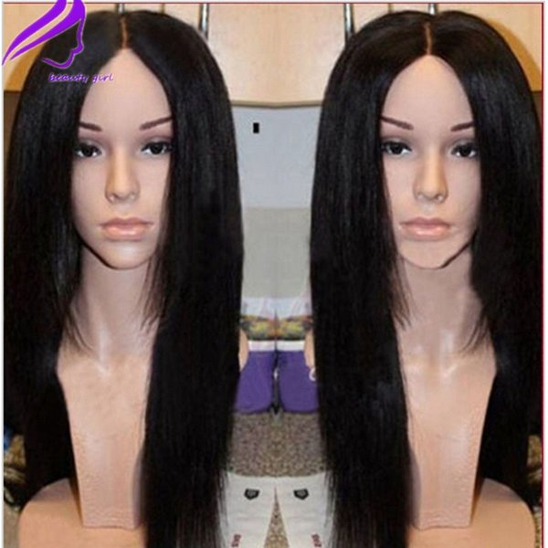Free Shipping Heat Resistant Yaki straight Synthetic Lace Front Wigs Kinky Straight Synthetic Lace Front Wigs For black women