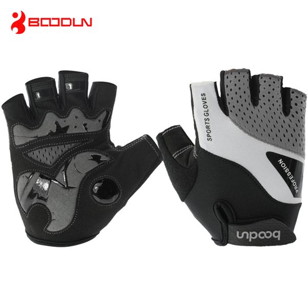 BOODUN Half Finger bicycle Gloves Summer Lycra Breathable Mountain Bike Gloves Anti Slip Gel Pad Road Bicycle Gloves