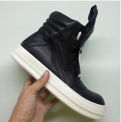 High Top Shoes GD Shoes Men Genuine Leather Casual Shoes Inverted triangle Top Quality Original 100% Real Photos ,size38-46
