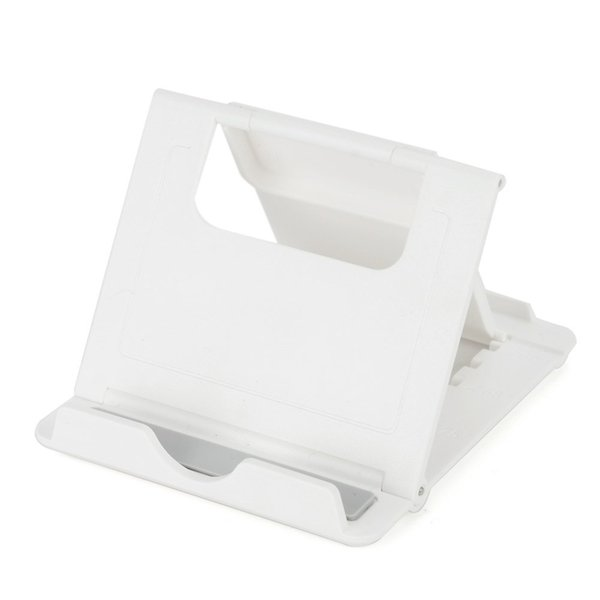 Al por mayor-CAA-Venta caliente Multi-Ángulo Ver Soporte para tableta Soporte portátil y ajustable Soporte para teléfono celular Tablet Blanco