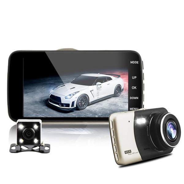 doppia lente IPS veicolo auto dvr auto videocamera videocamera auto dvr carcam dash cam full hd 1080p registratore di parcheggio registratore video telecamere
