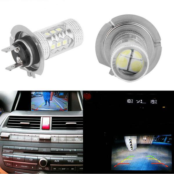 H7 80W LED Fog Tail Driving Car Headlight Lamp Bulb White Super Bright Led Car Fog Lights Bulb 360 Degree White Light C77L