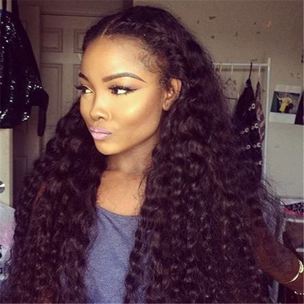 Full Density Curly Full Lace Human Hair Wigs With Baby Hair Pre Plucked Brazilian Full Lace Wigs For Black Women 10-26 inches