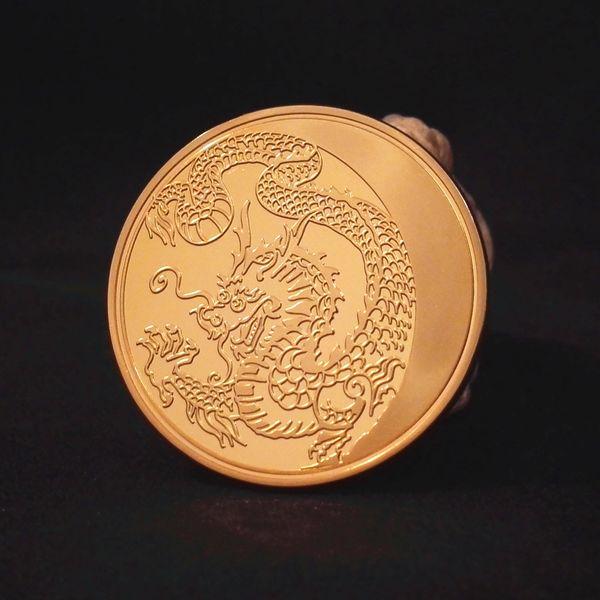 2014 Russia Lunar Zodiac Dragon Gold Plated Commemorative Coin Token