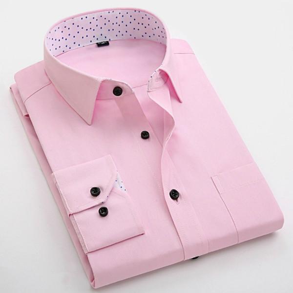 Male Occupation Business Suits Tooling Slim Emblazoned Shirts Men Long Sleeve Shirt Cufflinks Shirt Casual Brand Shirts