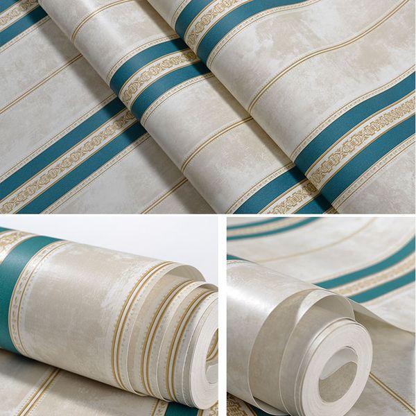 American Vintage Wallpaper Wohnzimmer Tapeten Roll Vertikale Streifen Tapeten für Wände Bedroomtripped Wallpaper Designs