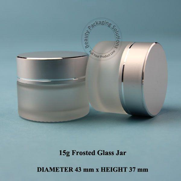 10 stücke 15g D43 * H37mm Milchglas Cremetopf Flaschen Fläschchen Gesichtscreme Container Kosmetische Verpackung