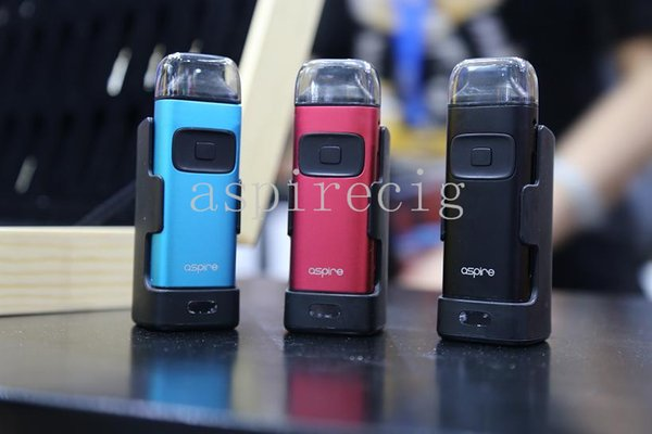100% Original Aspire Breeze Kit All In One 650mAh Battery U Tech 0 6ohm  Coil Top Fill Auto Fire Features Package Including Charger Dock Canada 2019
