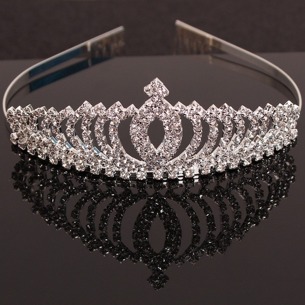 Beautiful girls princess children headdress hair crystal diamond crown hair comb Bride hair headdress wholesale free shipping