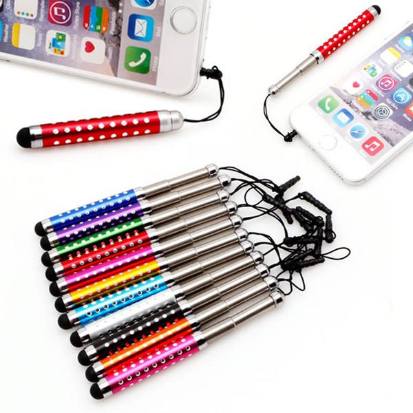 Gros- 30pcs Universal Three Links rétractable écran tactile capacitif Stylus Pen Teblet diamant pour iPad Tablet PC mobile pho