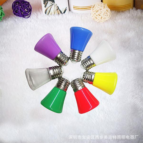 Nueva bombilla LED de color para la lámpara de la corona, bombilla de bulbo impermeable al aire libre colorida plana principal 24V
