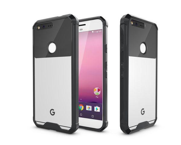 100 шт. Оптовая Прозрачный Кристалл Anti Knock чехол для Google pixel iphone 6 6 S 7 плюс новейший дизайн ТПУ с акриловым ковриком