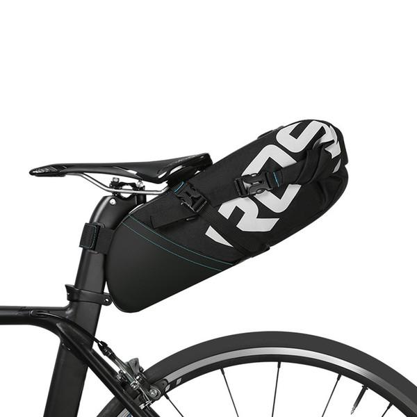 ROSWHEEL 2017 NUEVA bolsa de bicicleta MTB 8L 10L de alta capacidad ciclismo bicicleta sillín cola asiento trasero impermeable Bolsas de almacenamiento accesorios