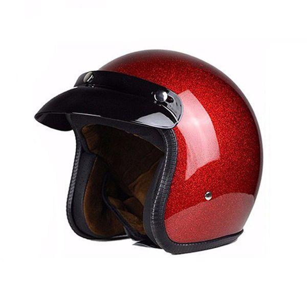 Wholesale- Motorcycle Helmet Unisex Man Women Half Open Face Retro Helmets Casco Vintage Scooter Jet Helmet Pare Moto Cascos ParaK001
