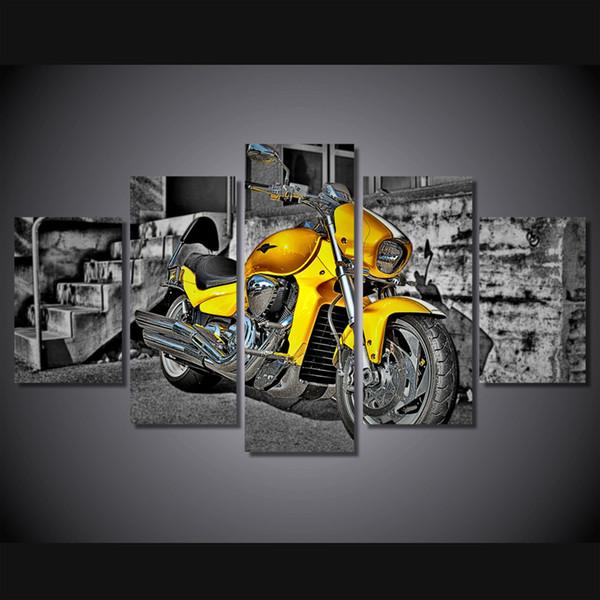 5 Teile / satz Gerahmte HD Gedruckt Motorrad Sport Wand Pop Art Bild Leinwanddruck Poster Bilder Leinwand Wandmalerei