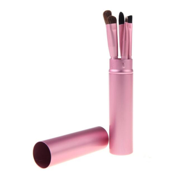 5pcs/set Professional Pony Hair Eyeshadow Brushes Set Makeup Brushes For Eye Makeup Tool Kit With Round Tube 300set