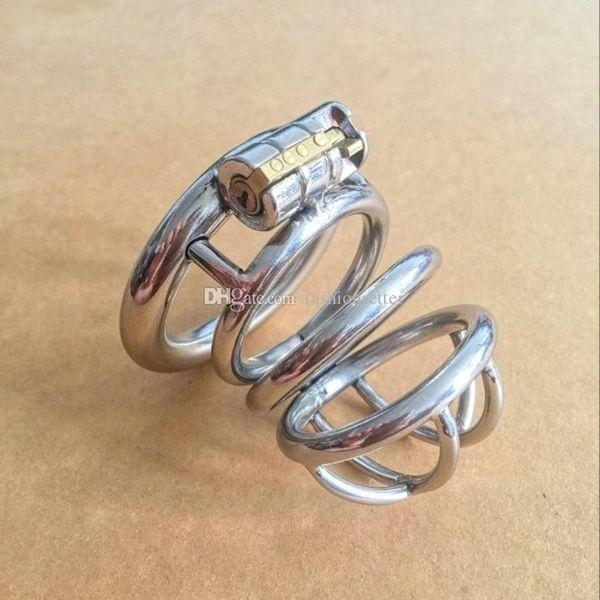 Nuovo arrivo castità gabbia castità cb in acciaio inox piccoli dispositivi di castità per gli uomini