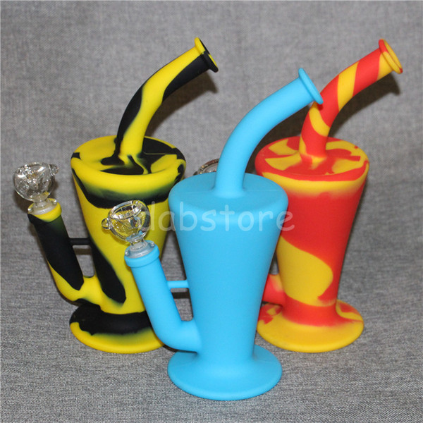 2017 Silicon Rigs Waterpipes Silicone Hookah Bongs Silicon Dab Rigs Cool Shape good quality and free shipping DHL