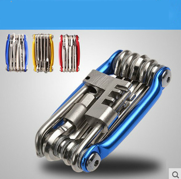 Outdoor 11 in 1 Bike Bicycle Chain Cutter Steel Screwdriver Tools Repair Kits Set Multi-function