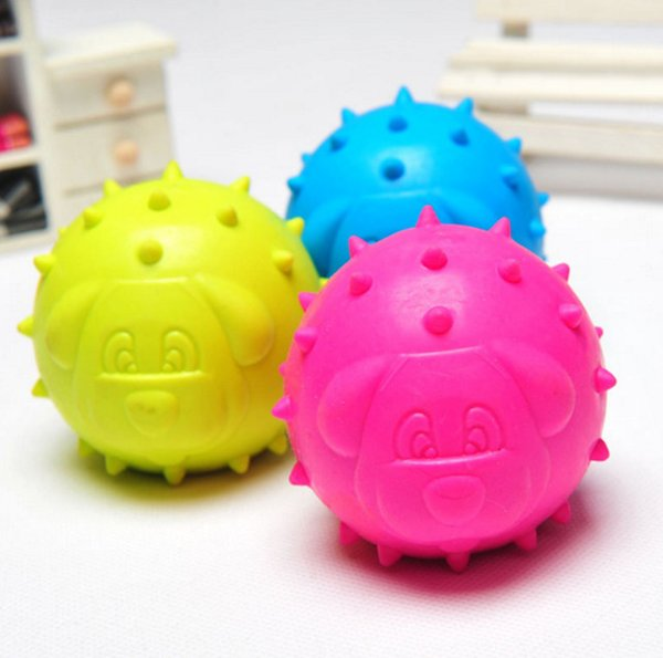 Cute Dog Round Shape Pet Toy Cat Dog Chew Teethers Elastic Ball For Cleaning Teeth Mini Rubber Chew Good Quality For Small Pets 10PCS
