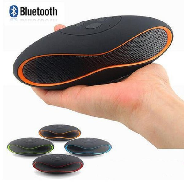 Latest Mini X6 Rugby Portable Wireless Bluetooth Speaker Mini-X6 Stereo Computer Speakers Audio MP3 Player Subwoofer With U Disk TF Card