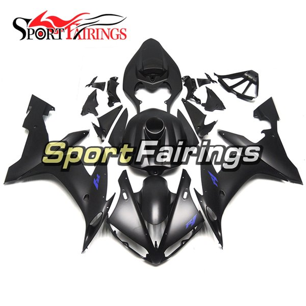 Flat Black Injection Fairings For Yamaha YZF1000 YZF R1 Year 2004 2005 2006 ABS Plastics Motorcycle Blue Decals Cowlings New Body Kits Cover