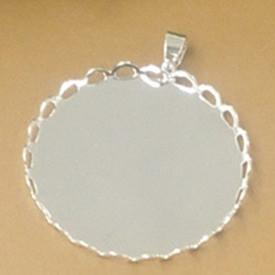 20MM Blank Silver Plated