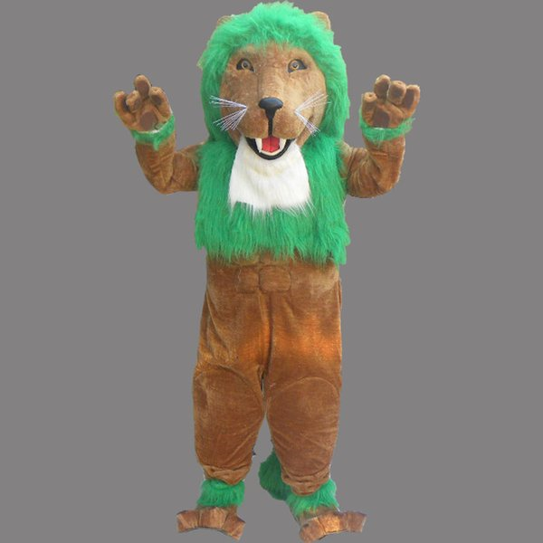 New Green Lion Adult Mascot Costume Fancy Birthday Party Dress Halloween Carnivals Costumes With High Quality