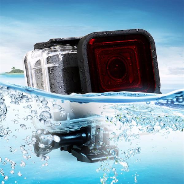 Für GoPro Hero 5 Wasserdichte Hülle mit Tauchgehäuse Filter für Go Pro Hero 5 Action Camera Zubehör