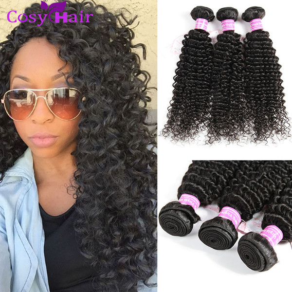 Indian Curly Hair Unprocessed Indian Kinky Curly Human Hair Weave Bundles 5 or 6Pcs Lot 8A Indian Jerry Curls Hair Extensions Natural Black