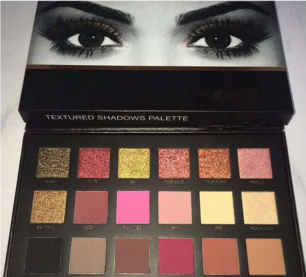 The latest trend of fashion color full range of 18 color eye shadow pearl matte metal eye shadow discs new product explosion