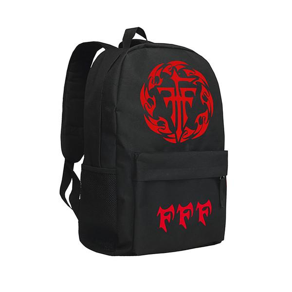 Japanese Anime Backpacks Oxford Bag Mihnah Knapsack Black COS FFF Team Backpack Boys and Girls Mihnah Shoulder Bags Men Laptop Bags