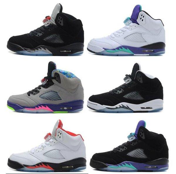 Retro 5 men basketball shoes 5s space jam bel air black grape oreo retro 5 men basketball shoes 5s space jam bel air black grape oreo leather black fresh sciox Image collections