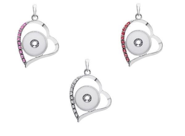 Brand New DIY en alliage bouton de haute qualité mode pendentif collier femmes en gros collocation fête bijoux strass 21