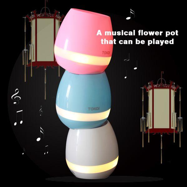 2017 tokqi bluetooth planta de música de toque inteligente planta de piano tocando k3 flowerpot sem fio (sem plantas) 20 pcs