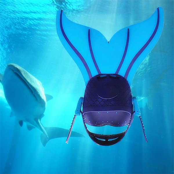New Fashion Adjustable Mermaid Swim Fin Diving Swimming Foot Flipper Fin Swim Training For Kid Children Christmas Gift free shipping GB003