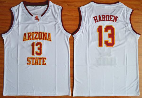 Arizona State Harden College-Trikots 13 University Gelb Rot Weiß Beste Qualität Genäht Steph Jersey