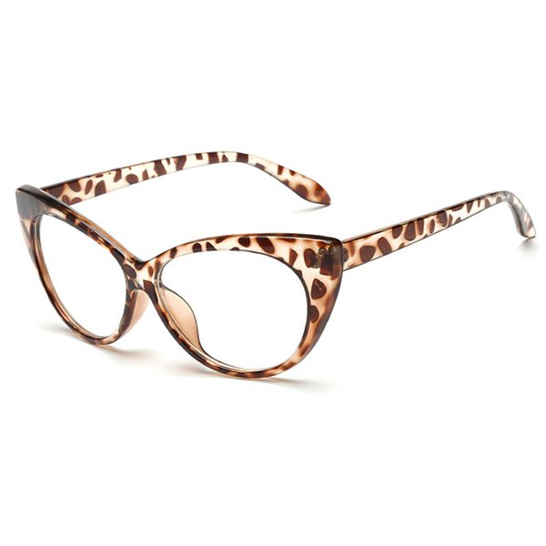 Leopard Frame Clear Lens