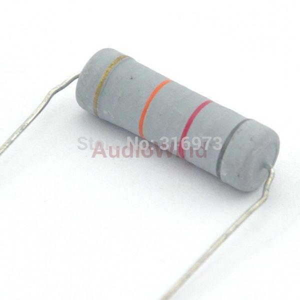 Wholesale- (5 pcs/lot) 82K ohm Metal Oxide Film Resistors, 5W, 5 Watts