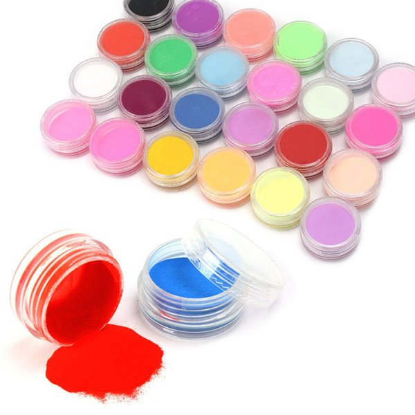 Atacado-New 18 Cores / Set Nail Art Tips ferramenta Nail polish pintura 3d UV escultura em pó Gel Poeira Design Decoração Manicure kit # M01202