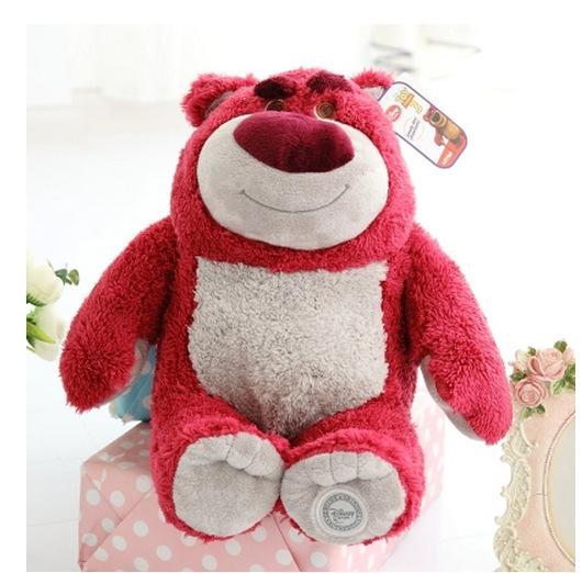Películas de TV felpa juguete original Lotso suave lindo animales de peluche de felpa muñeca de juguete de regalo de fresa oso