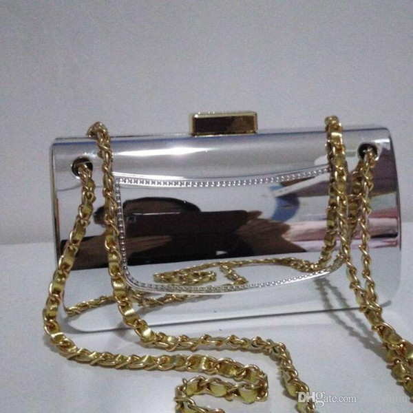top popular Factory Designer Tyrant Gold-plated Acrylic Handbags Famous Evening Bags Brick Vintage Clutch Shoulder Bags Tote Purse Party Women 2020
