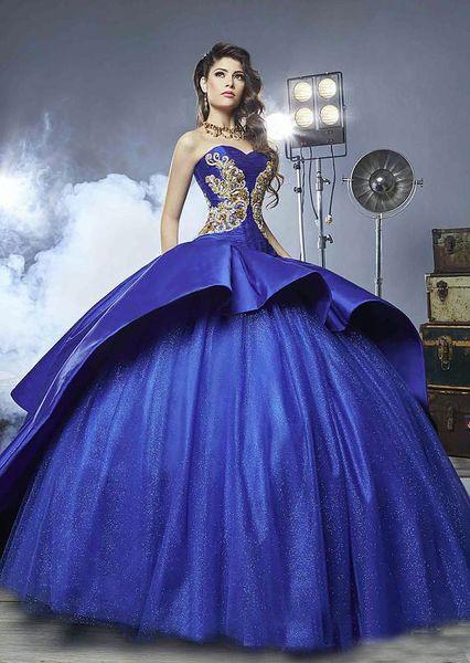 2018 Regency Masquerade Ball Gown Royal