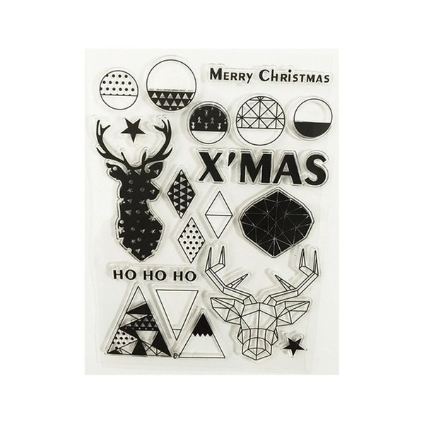 Wholesale Christmas Deer Transparent Clear Stamp Seal For ...